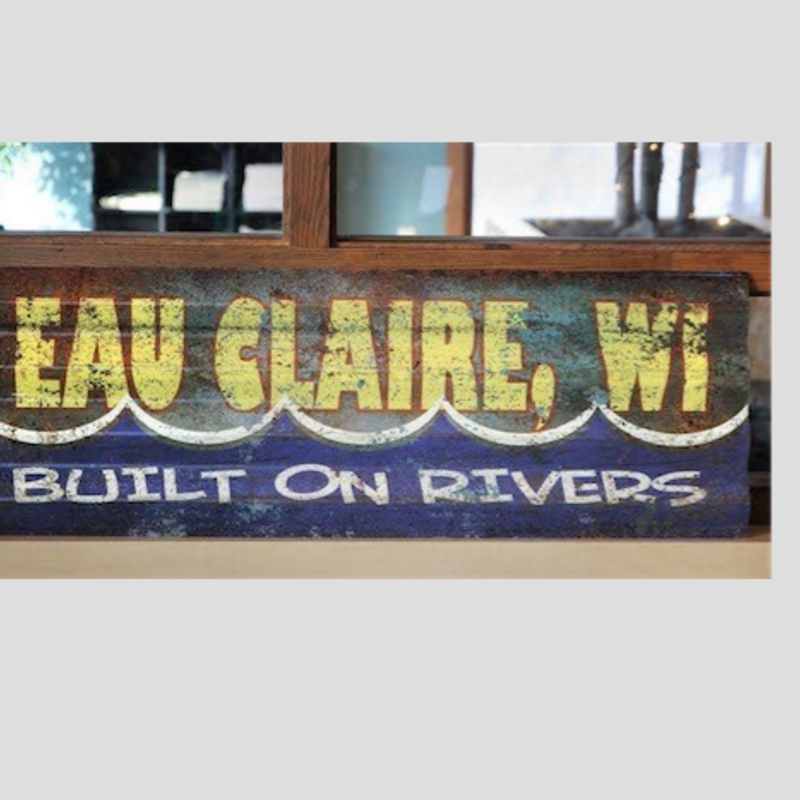 Volume One Built on Rivers - Corrugated Metal Sign