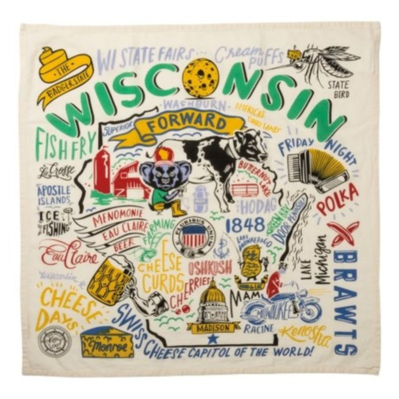 Volume One Kitchen Towel - Super Wisconsin (Large)