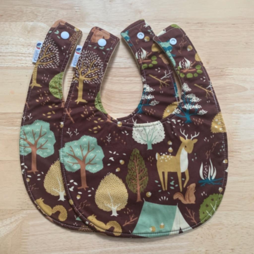 Liddle Handmade Woodland Baby Bib