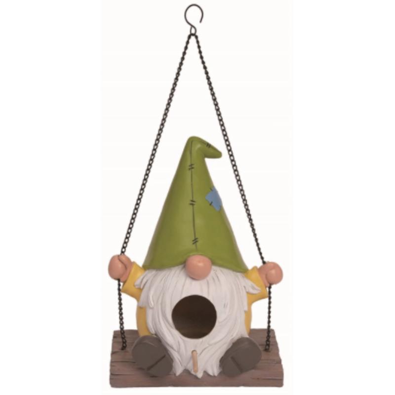 "Volume One Gnome Swing Birdhouse - 8"""