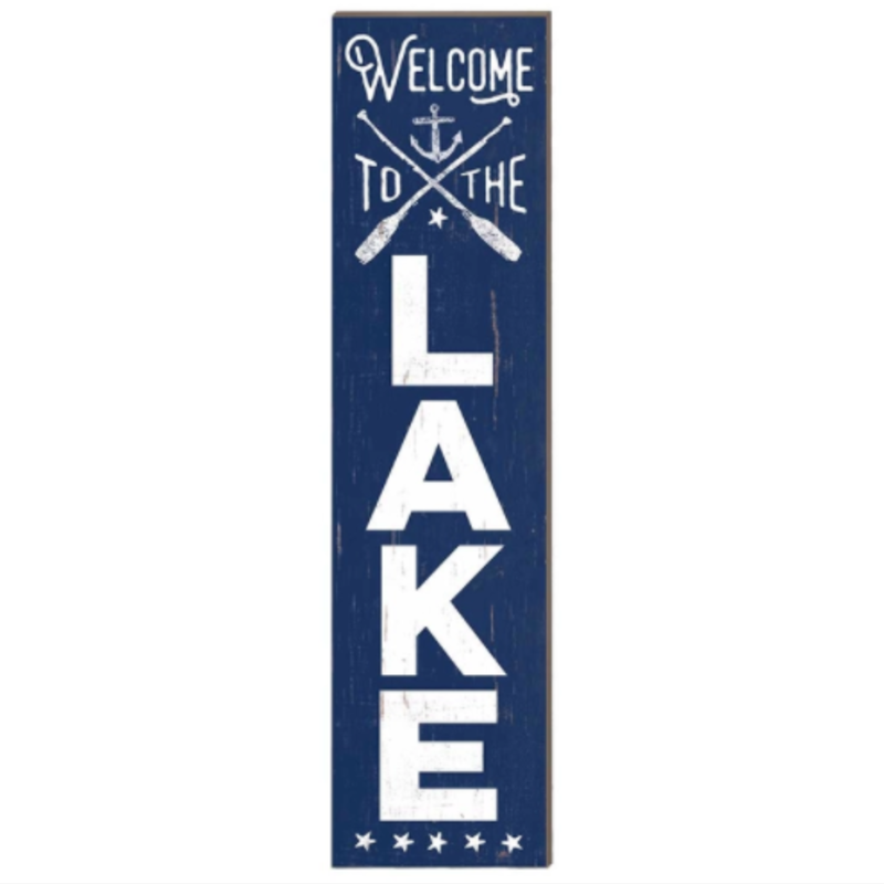12 x 48 Welcome to the Lake Leaner Sign