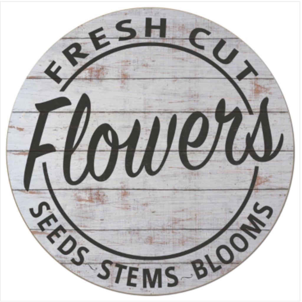 20x20 Fresh Cut Flowers Indoor/Outdoor Sign