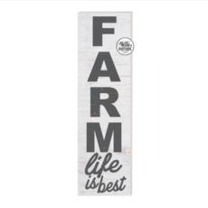 35 x 10 Farm Life Is Best Whitewash Indoor/Outdoor Sign