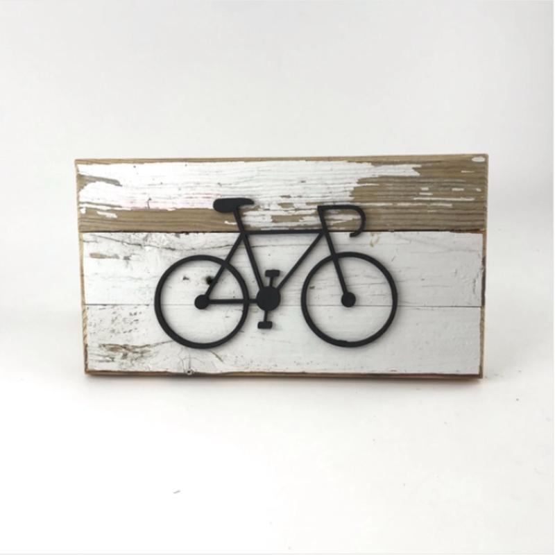 Bike Reclaimed Wood Wall Art