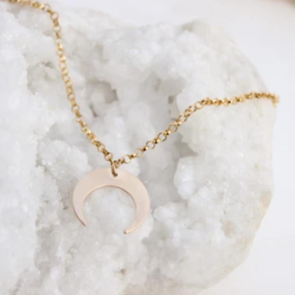 Adorn Jewelry Crescent Moon Choker - Gold