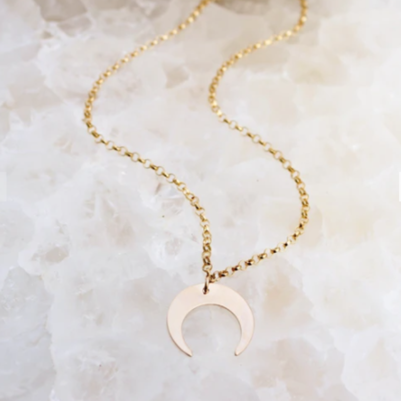 Adorn Jewelry Crescent Moon Choker - Gold