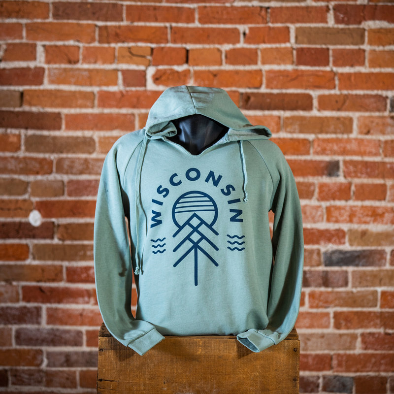 Giltee MKE Wisconsin Native Women's Hoodie - Sage Green