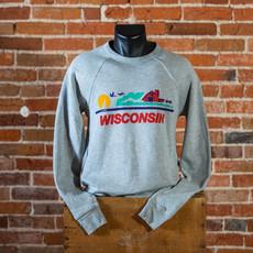 Volume One Crewneck - Wisconsin License Plate