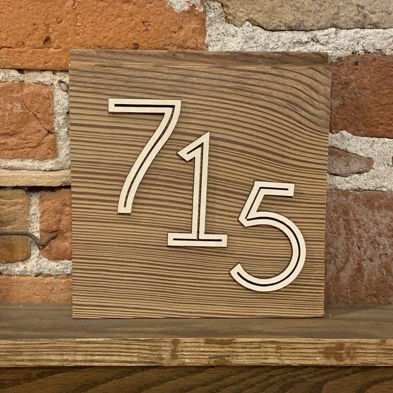 715 Area Code Reclaimed Wood Wall Art