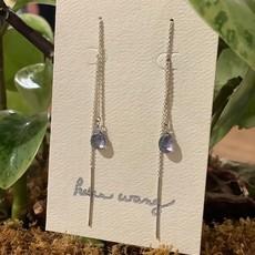 Helen Wang Jewelry Earrings - Silver Topaz Threader