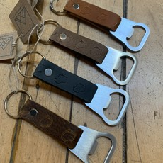 Wisconsin State Leather Bottle Opener