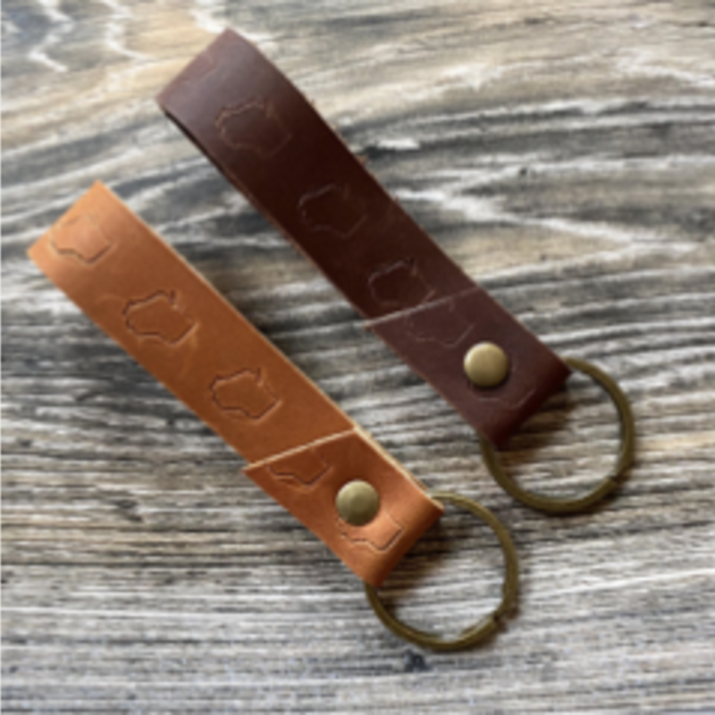 Wisconsin Leather Key Fob