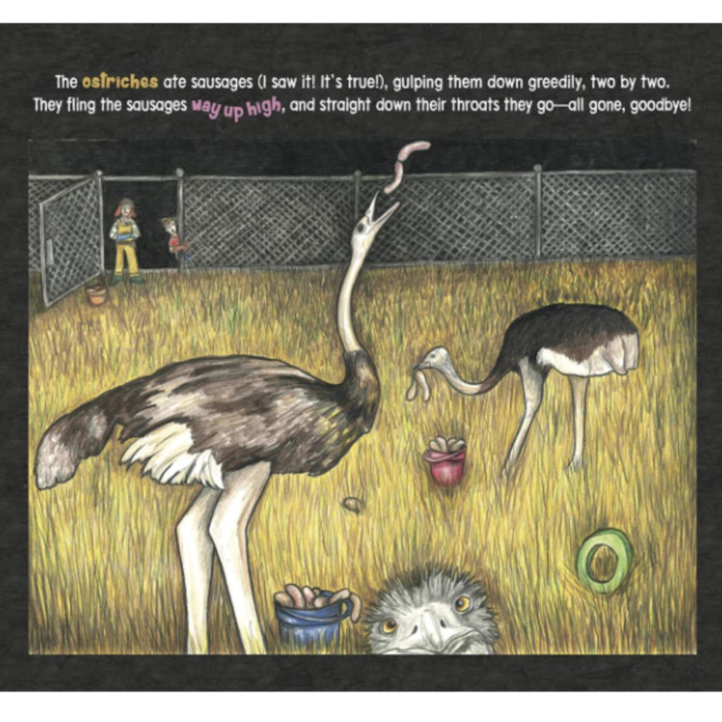 Ostriches Eat Sausages - An Alphabet Book