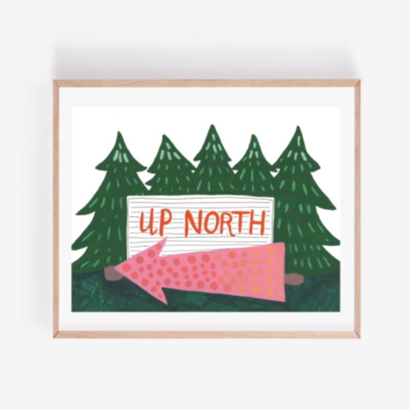 Persika Design Up North Print (8x10)