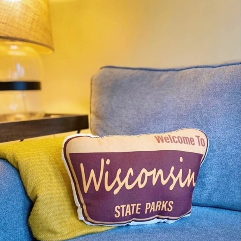 Wisconsin State Parks Pillow