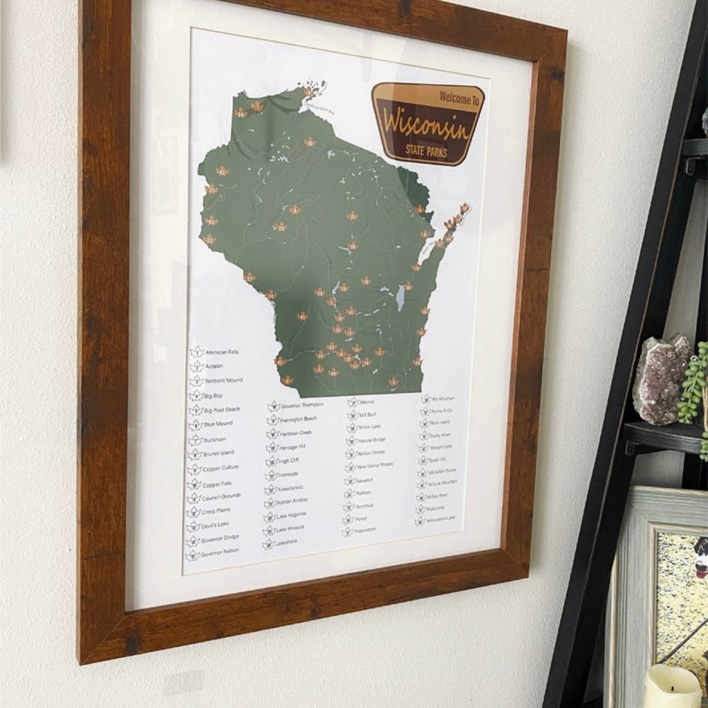 Wisconsin State Parks Checklist Print (TH)