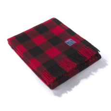 Wool Throw - Buffalo Check Red/Black