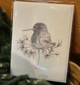 Nadine Bresina Hummingbird Greeting Card