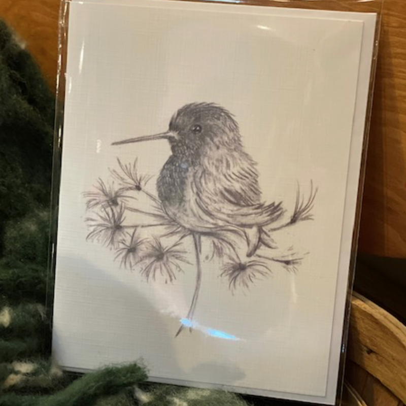 Nadine Bresina Hummingbird Greeting Card
