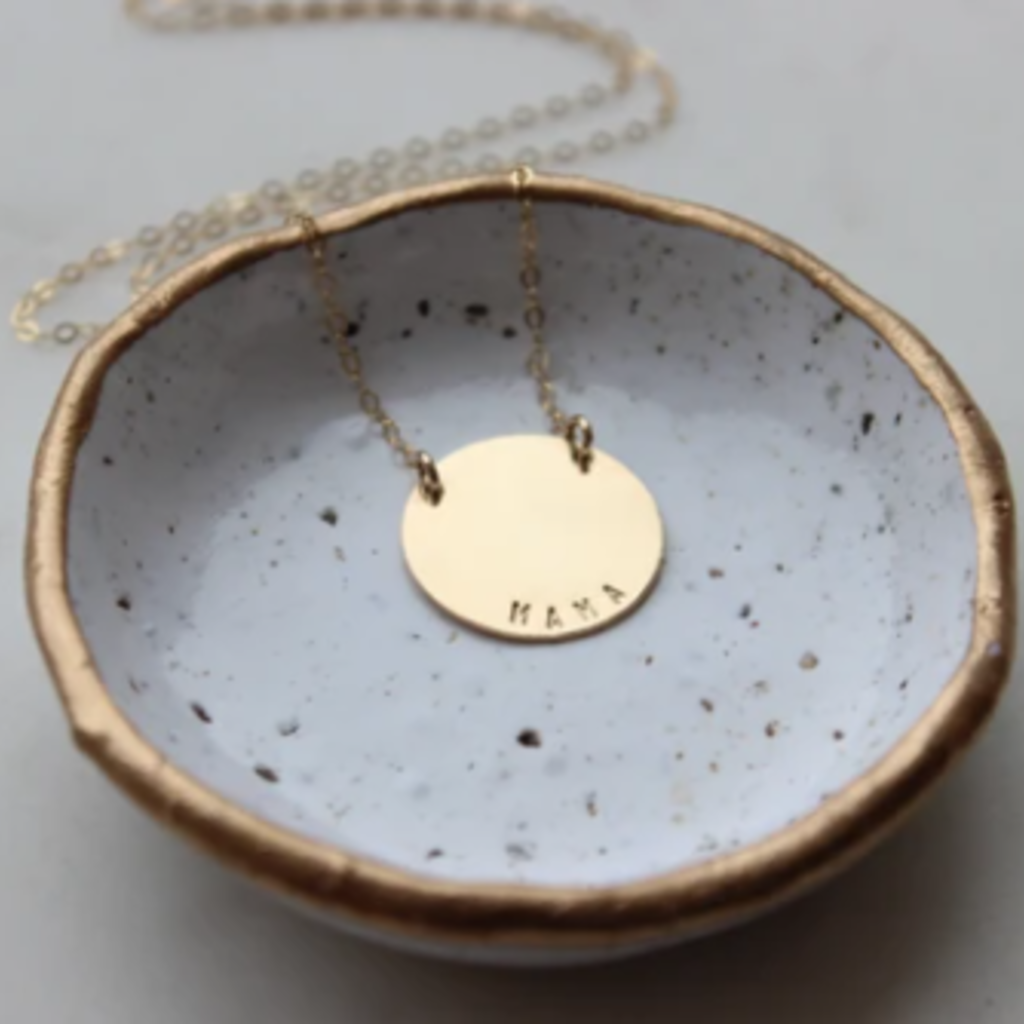 Adorn Jewelry MAMA Disc Necklace