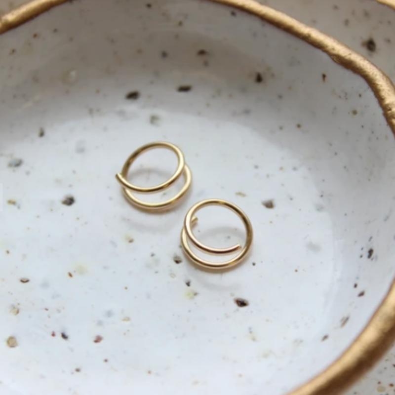 Adorn Jewelry Tiny Twist Earrings