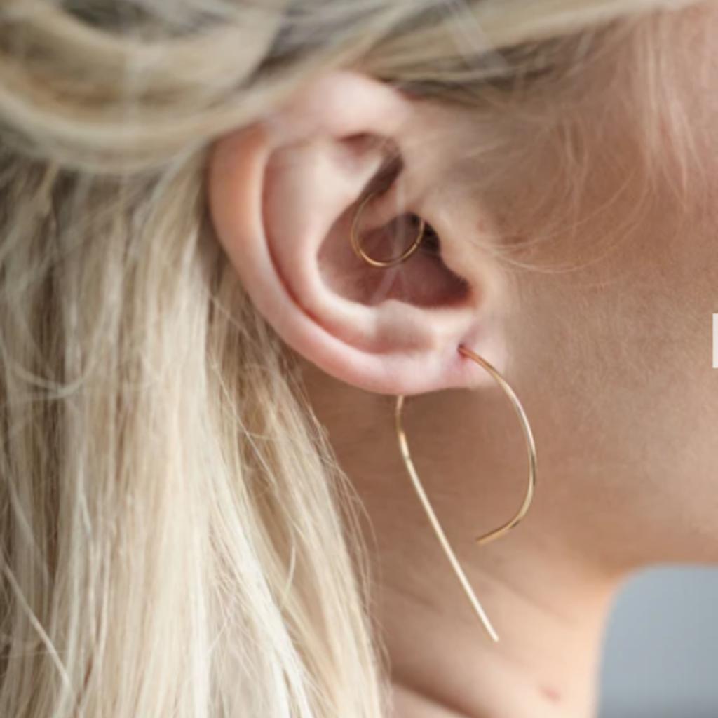 Adorn Jewelry Inverted Swoop Earrings