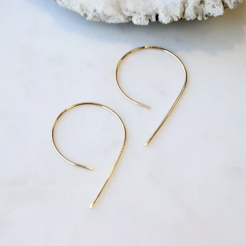 Hello Adorn Jewelry Inverted Swoop Earrings