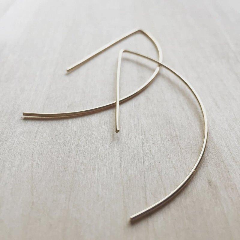 Hello Adorn Jewelry Archery Hoop Earrings