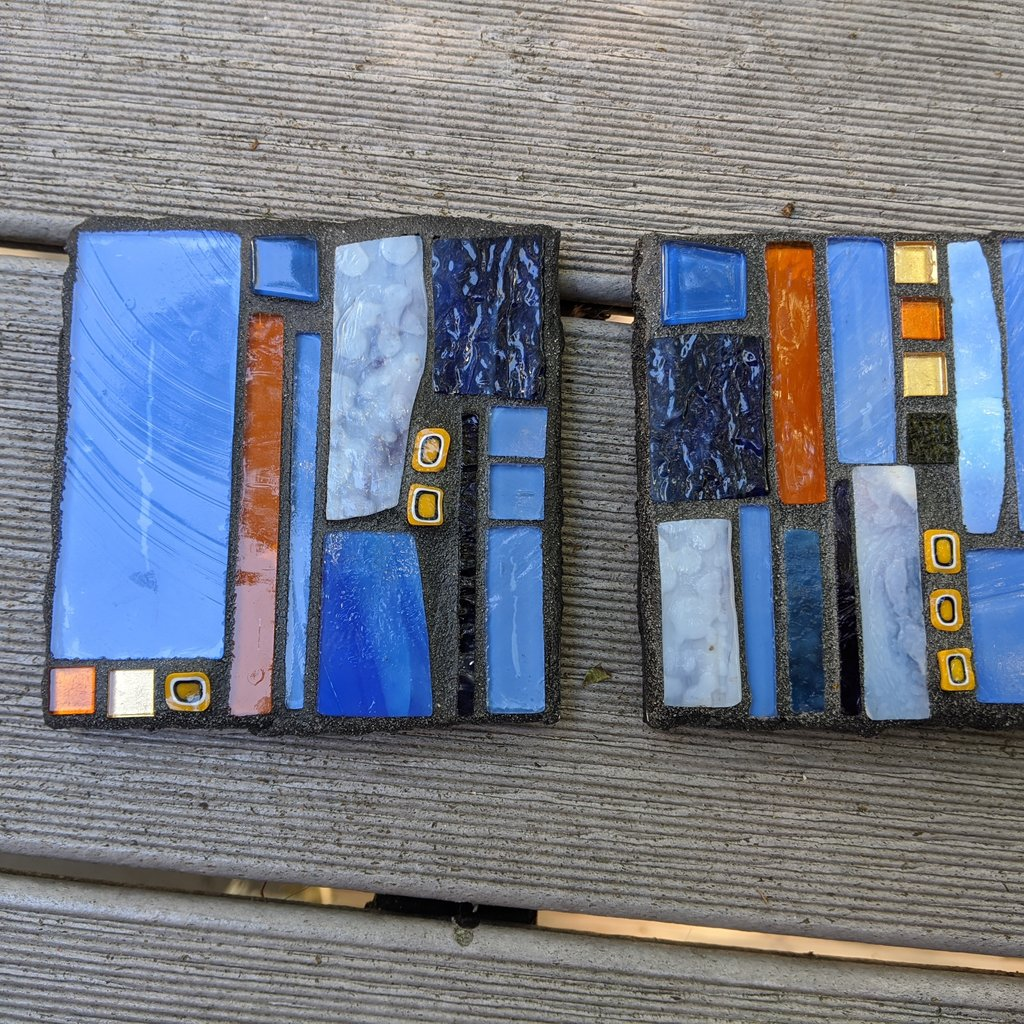 Mosaic Coasters (Set of Two)