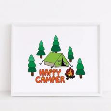 Happy Camper Art Print (8x10)