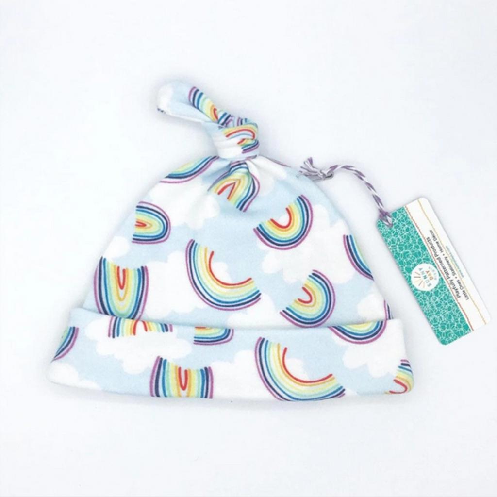 Rainbow Sky Organic Cotton Baby Hat (Newborn)