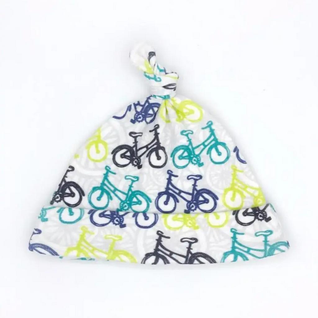 Whimsical Wheelies Organic Cotton Baby Hat (Newborn)