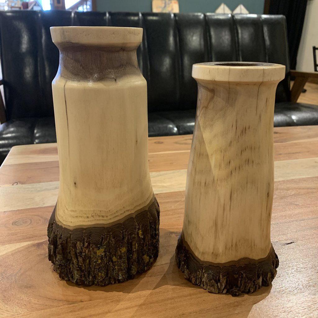 Tall Vase (Bark Bottom)