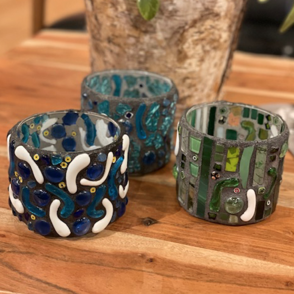 Mosaic Glass Cup (Assorted)