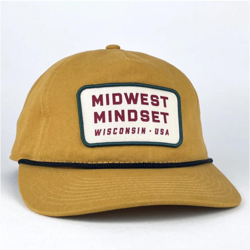 Giltee MKE Midwest Mindset Union Snapback Hat (Vintage Gold)