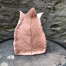 Ann Wrzosek-Manor (Meadowsong Studios) Terra Cotta Planter - Leaf