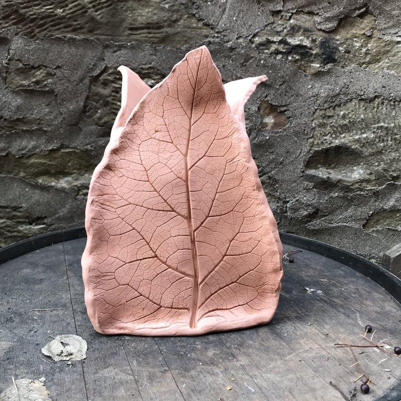 Ann Wrzosek-Manor (Meadowsong Studios) Terra Cotta Planter - Leaf