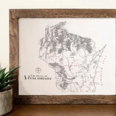 Wisconsin Vintage Map (Original) - 12x16