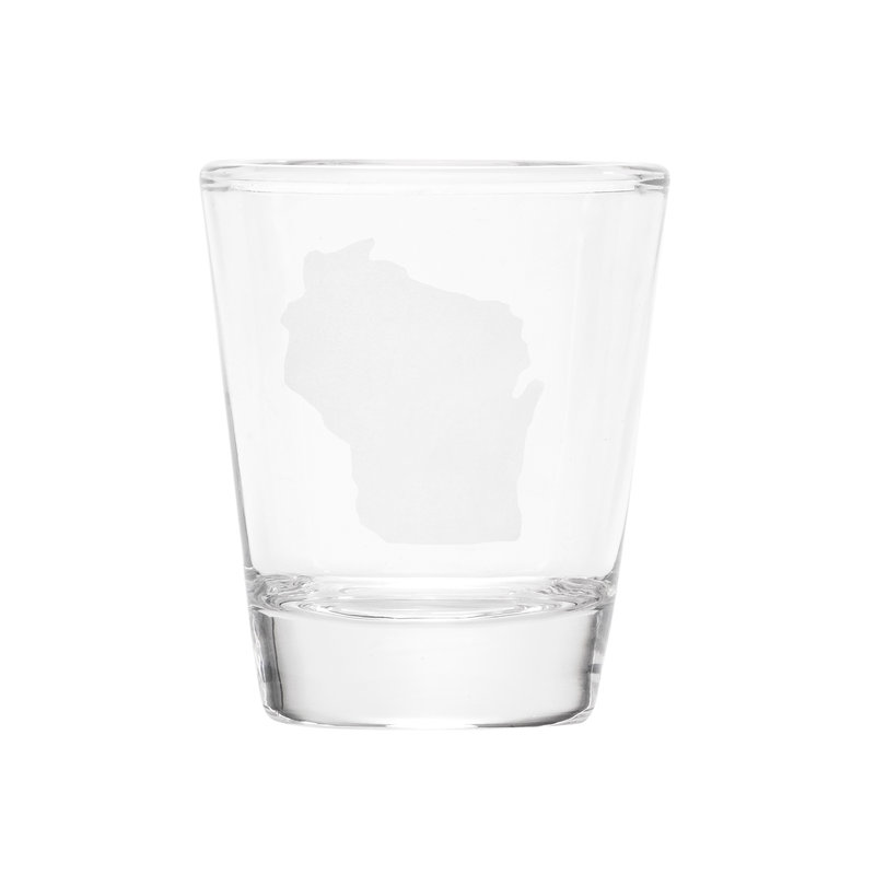 Volume One Wisconsin Silhouette Shot Glass