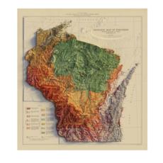 Wisconsin 1965 Relief Map (22x24)