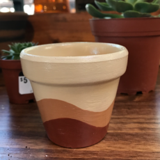 Hand Painted Terra Cotta Pot (Small No Plate)