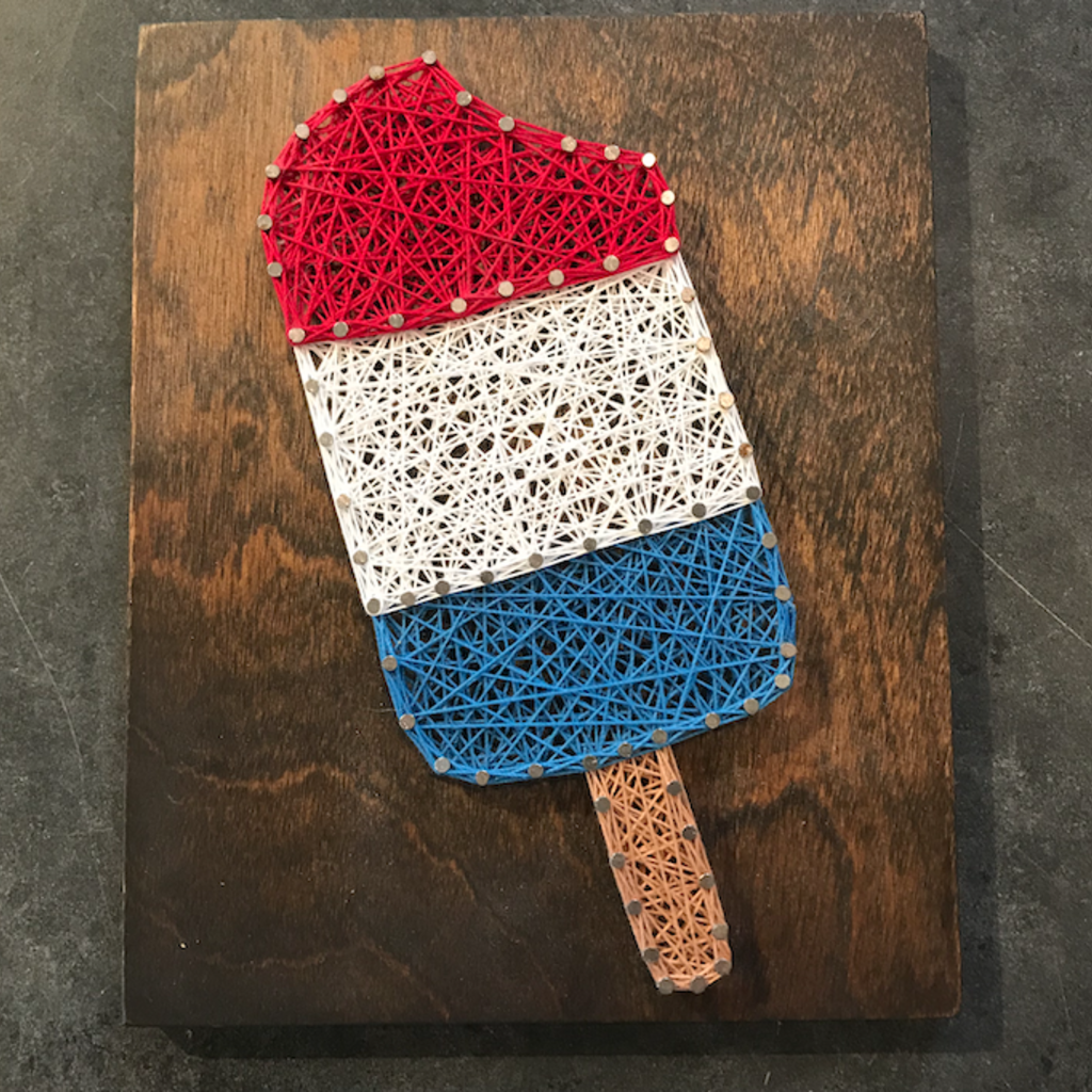 Strung on Nails String Art - Bomb Popsicle