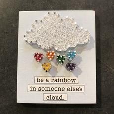 Strung on Nails String Art - Rainbow / Cloud Phrase