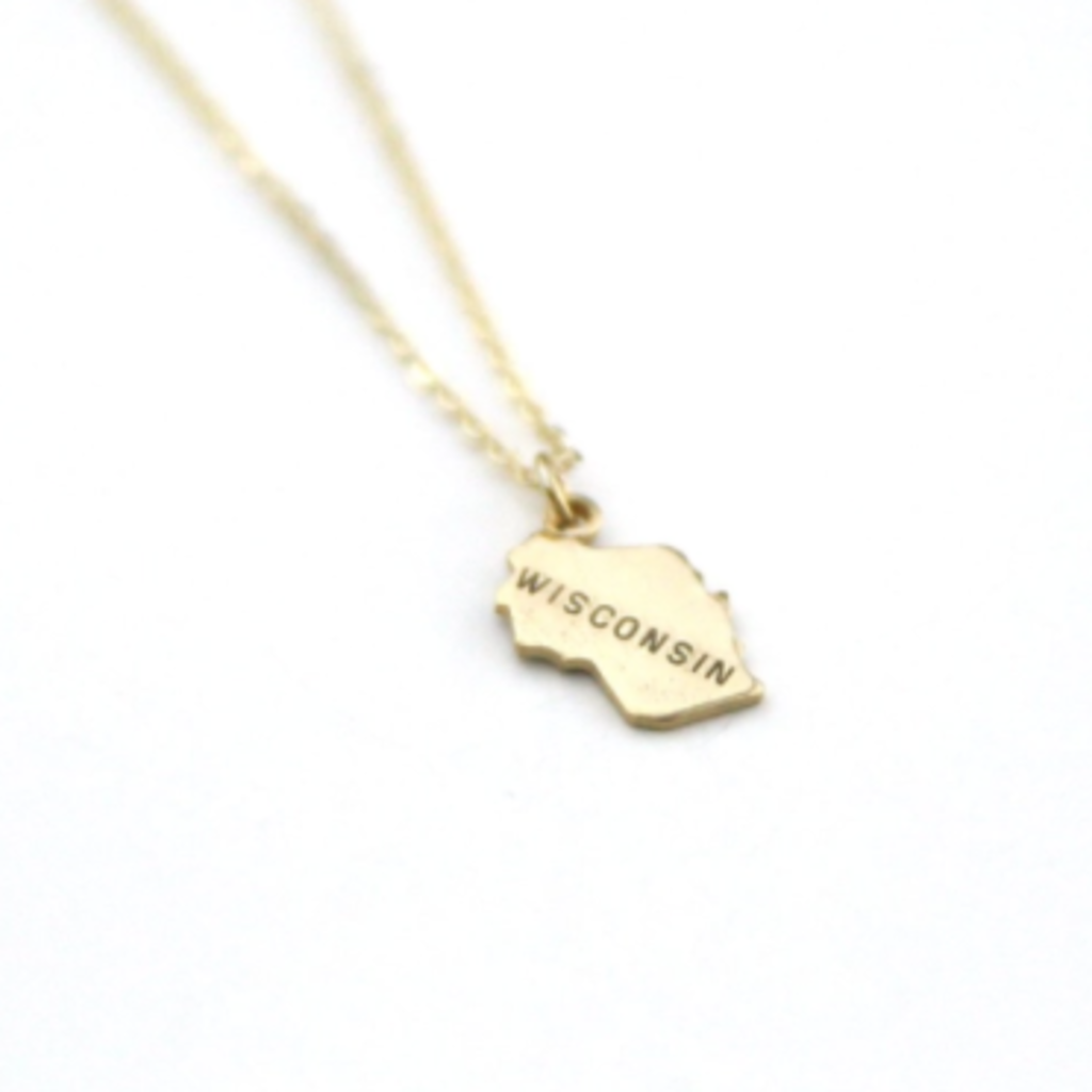 Wisconsin - State Name Necklace