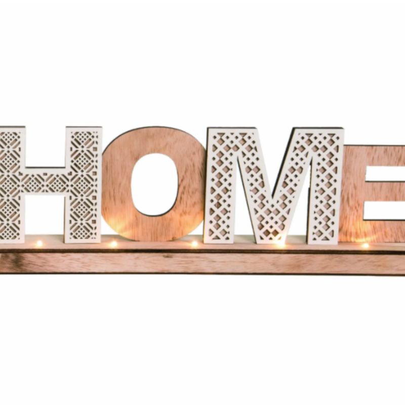 "HOME Word Block w/ Lights 17"""