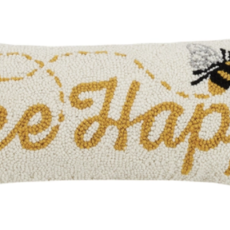 Volume One Bee Happy Hook Pillow