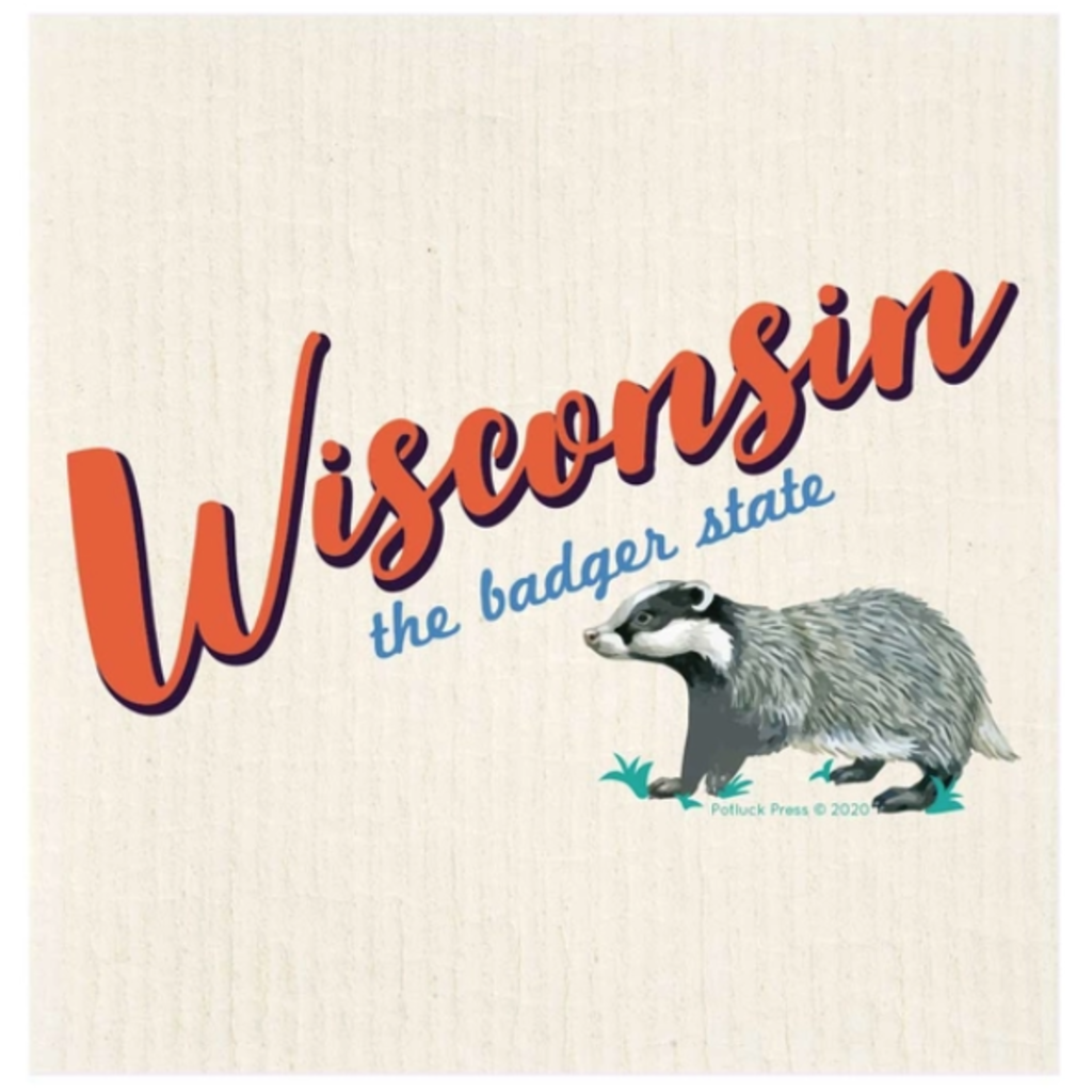 Swedish Dishcloth - Wisconsin State Badger