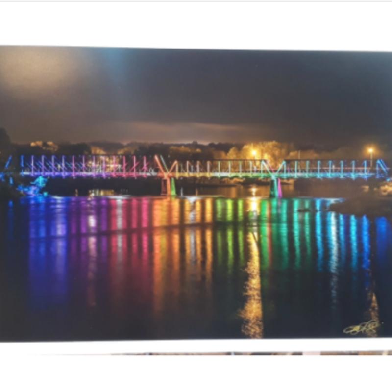 Lloyd Fleig Phoenix Park Bridge at Night 20X30
