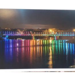 Lloyd Fleig Greeting Card - Phoenix Park Bridge at Night