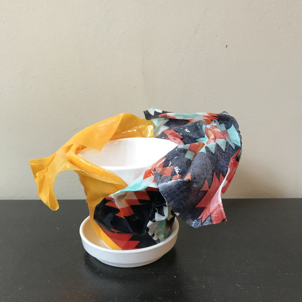 Resin Coated Fabric - Tabletop pot